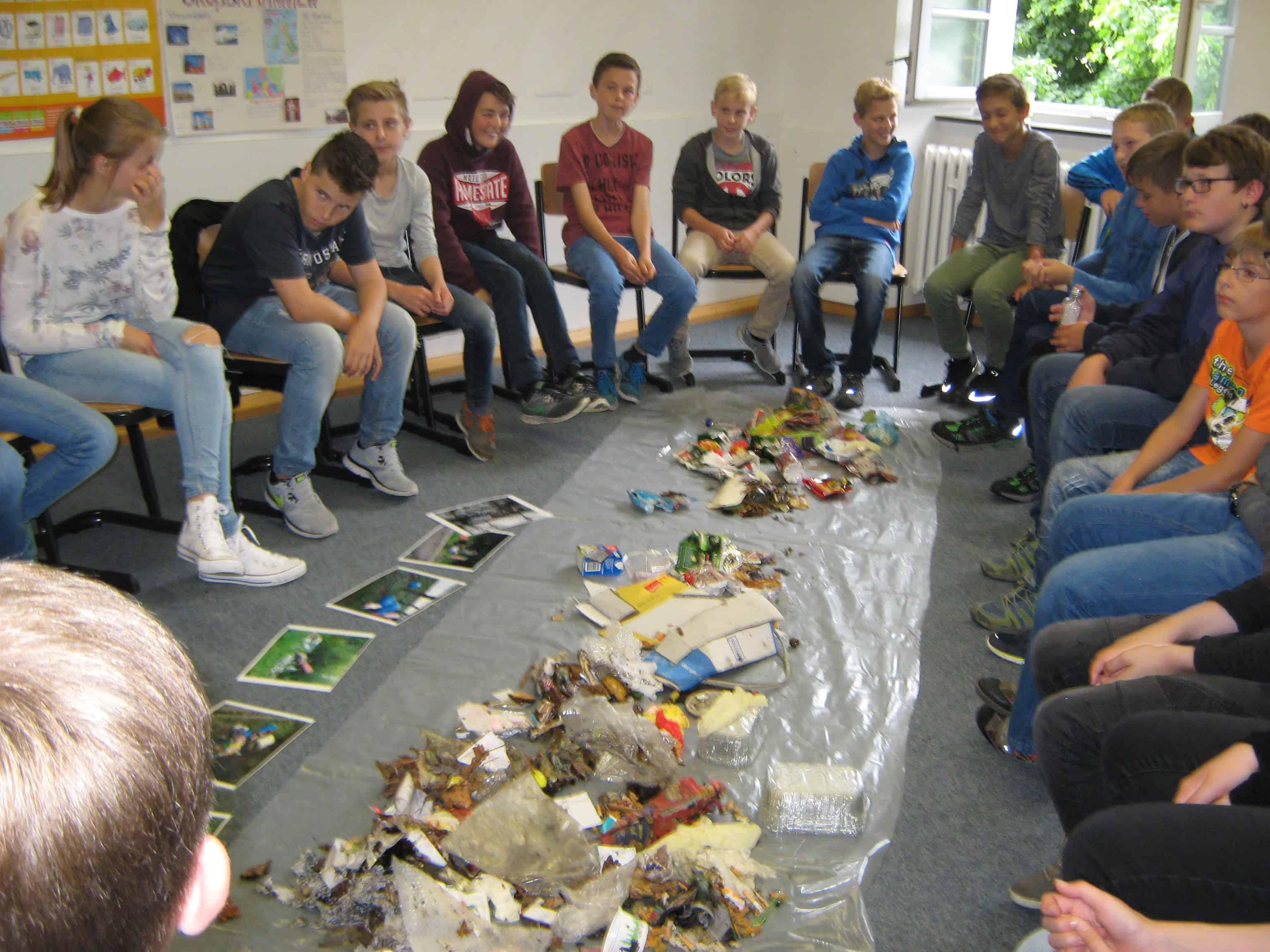 Aktionswoche zum Thema Müll am Progymnasium