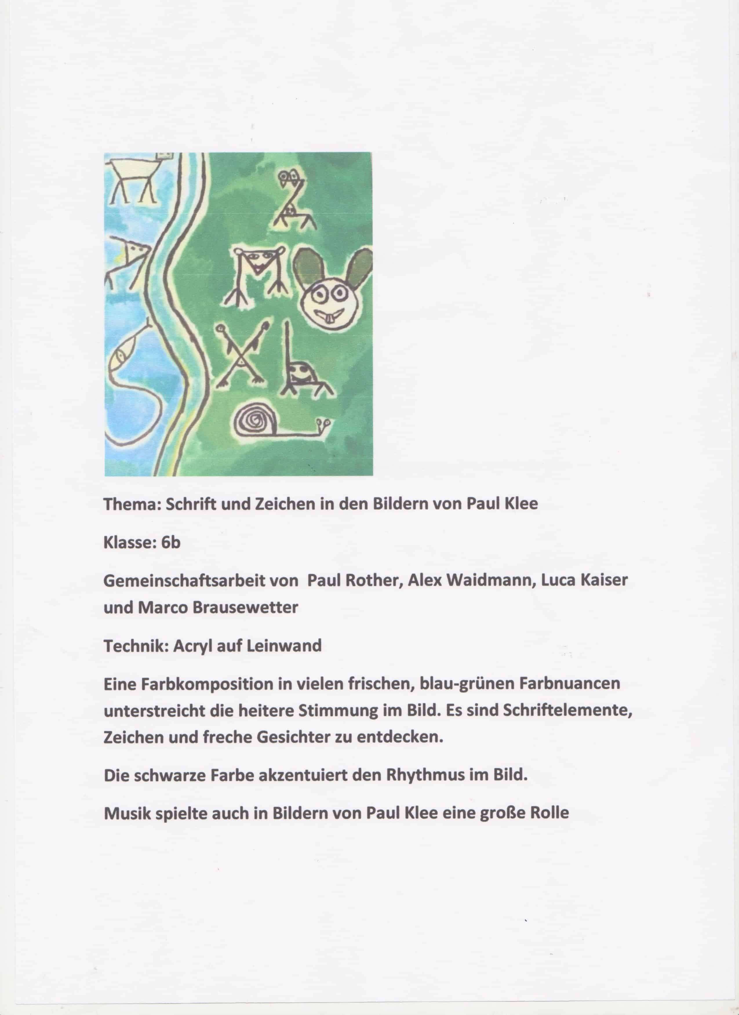 Schrift Und Zeichen In Den Bildern Von Paul Klee – Bilder In Acryl