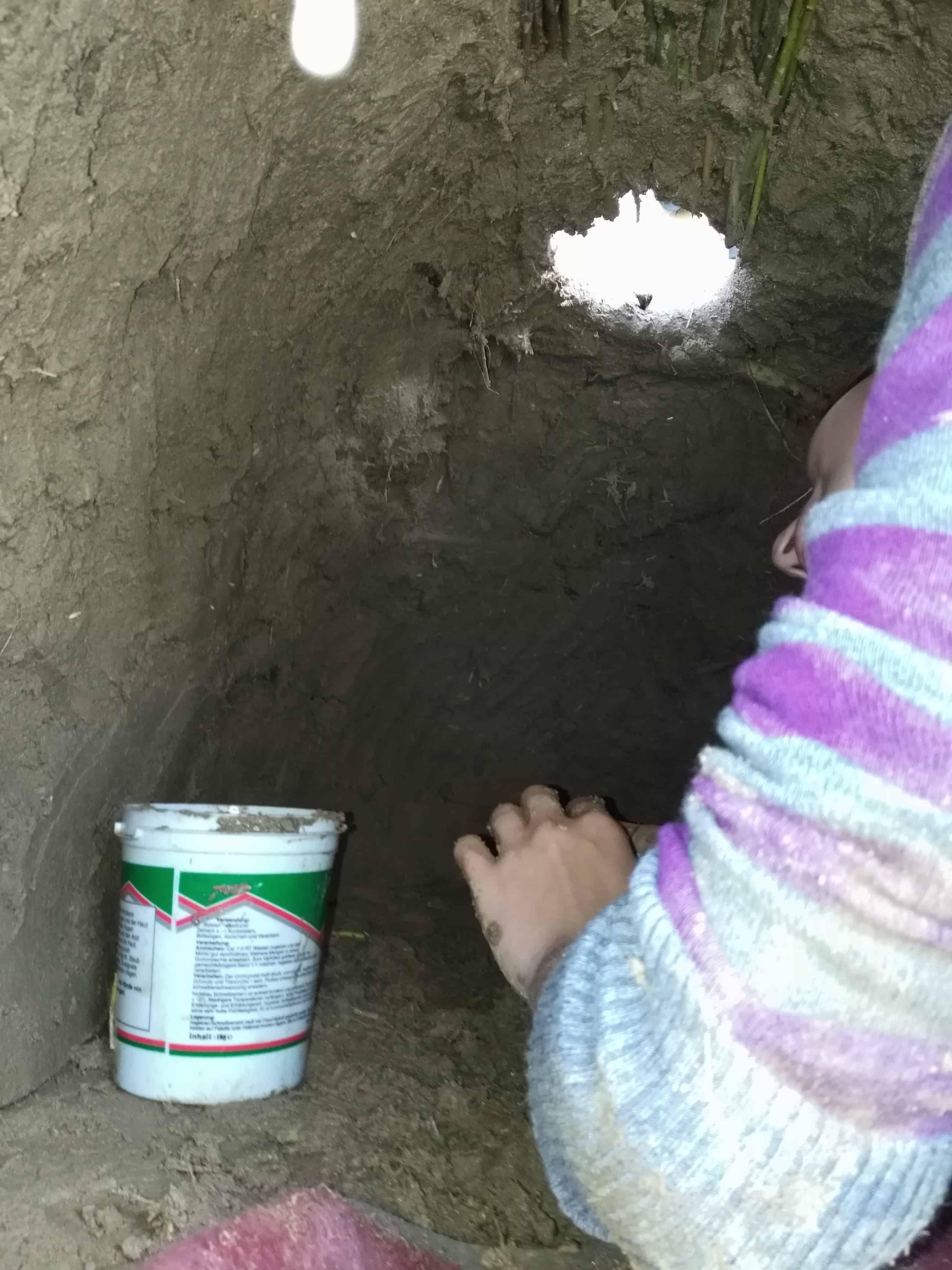 Bau eines Steinzeitofens